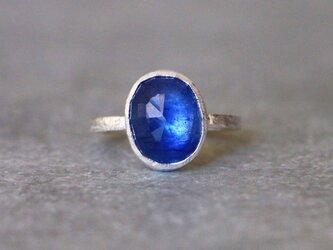 古代スタイル*サファイア 指輪*7号 SVの画像