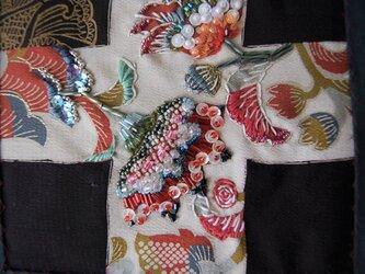 [fabric fantasy] 妖(あやかし)の花 着物リメイクの画像