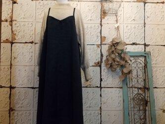 濃紺リネンキャミワンピの画像