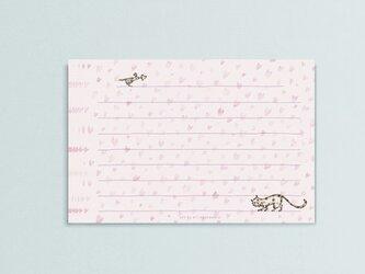 一筆箋【 heart field 】メッセージカードの画像