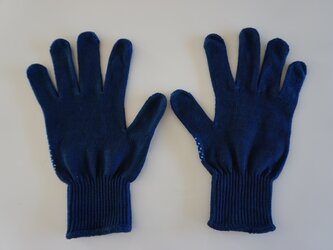 藍染の手袋の画像