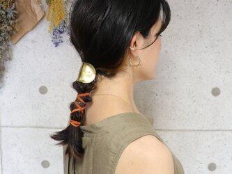 【美容師が考えたポニーフック】【oonami】(ヘアフック・ヘアカフ)真鍮製 /ヘアゴム/ヘアアクセサリー/フォーマルの画像