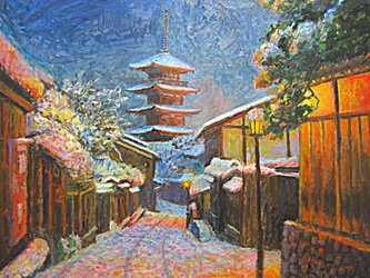 雪明かりの画像