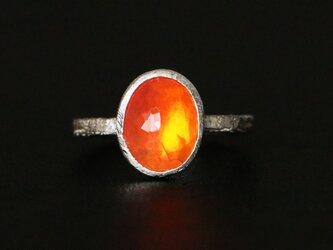 古代スタイル*天然ファイアオパール 指輪*7号 SVの画像