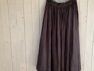 茶ペチコート付きたっぷりギャザースカートの画像