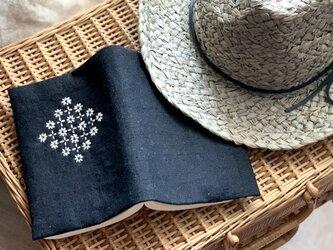 ブックカバー*(黒)Flowerの画像