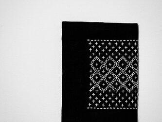 文庫本カバー(黒)シックなレース風の画像