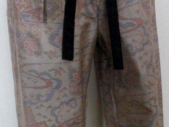 5420 色大島紬の着物で作ったサブリナパンツ #送料無料の画像