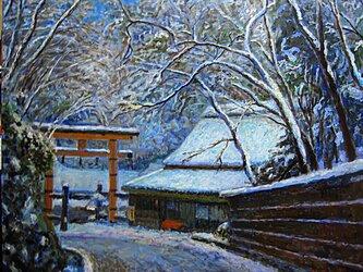 愛宕街道も雪景色の画像