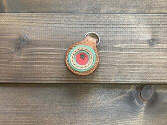 2coinsキーホルダー(茶×焦げ茶・トマトver.)の画像