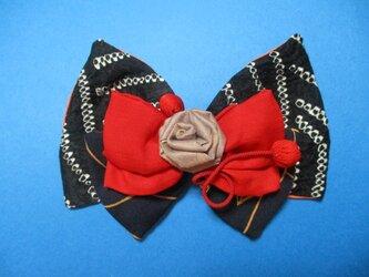 黒と赤のコンチェルトバレッタ「薔薇は微笑む」の画像