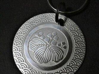 彫金家紋 キーリング オーダーメイドの画像
