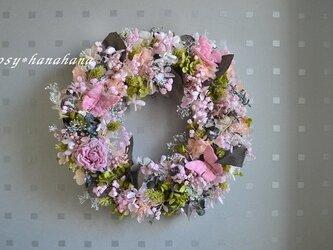 【母の日2021】桜ピンクの春wreathの画像