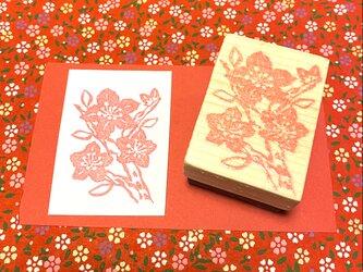 ✿季節のはんこ✿【桃の花B】3.5×4.5㎝の画像