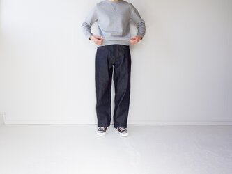 wide straight/14oz.selvedgedenim jeans/non washの画像