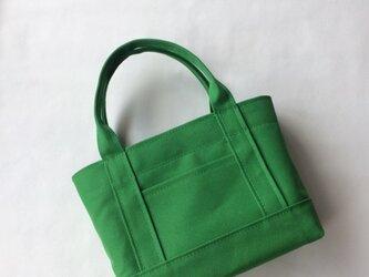 受注製作ちょうどいいサイズのトートバッグ(Mサイズ)「ALL」(モスグリーン)の画像