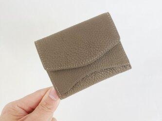 """[小さな柔らか財布] """"Jack""""マイクロウォレット < ブラウングレー> 名入れ・ギフト包装無料の画像"""
