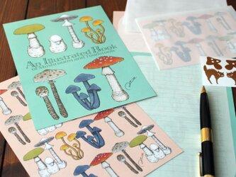 ●キノコ図鑑シリーズ2●アンティークキノコ図鑑のレターセットの画像