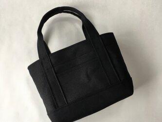 受注製作ちょうどいいサイズのトートバッグ(Mサイズ)「ALL」(ブラック)の画像