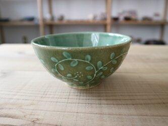 いっちん唐草お茶碗 グリーンの画像