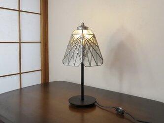 透明(草木透かしの模様)ステンドグラスランプおしゃれガラス照明・ Lサイズの画像