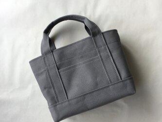 受注製作ちょうどいいサイズのトートバッグ(Mサイズ)「ALL」(グレー)の画像