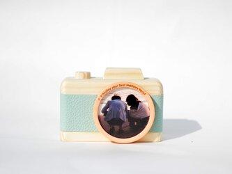 カメラのフォトフレーム 【スタンダード・ライトブルー】の画像