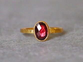 古代スタイル*天然レッドスピネル 指輪*7号 GPの画像
