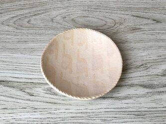スリップ模様 小皿の画像