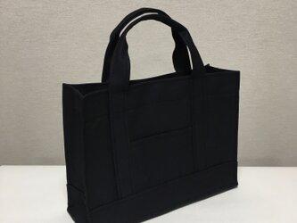 受注製作通勤通学トートバッグ 「 oblong 」 ブラックの画像