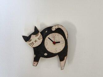 ねこ 掛け時計 (陶器) no.6の画像