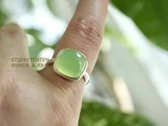 greenアップルのカルセドニー ringの画像