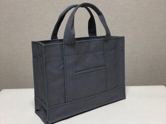 受注製作通勤通学トートバッグ 「 oblong 」 グレーの画像