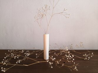 ドライフラワーの花器 かすみ草の画像