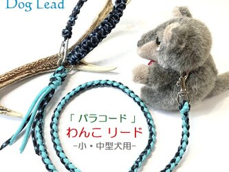 わんこリード カフェリード PARACORD パラコード  小型犬 リード ペット ハンドメイド 手編み 送料無料 日本製の画像