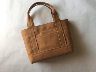 ちょうどいいサイズのトートバッグ(Mサイズ)「ALL」(キャメル)の画像