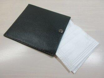 不織布マスクをお洒落に収納♪本革製・一枚革の不織布マスクケース・0127の画像