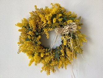 atelierBLUGRA八ヶ岳〜フレッシュミモザのWreath33の画像