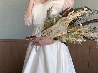 ドライブーケ バンクシア ユーカリ パンパス ブーケ 結婚式の画像