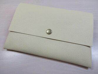 A6、お薬手帳、母子手帳対応・ピッグスキン・一枚革のマルチケース・カードポケット付き・0222の画像