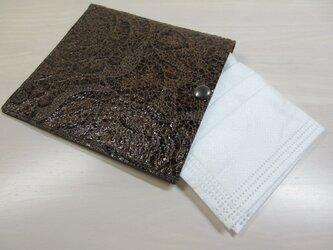 不織布マスクをお洒落に収納♪本革製・一枚革の不織布マスクケース・0125の画像