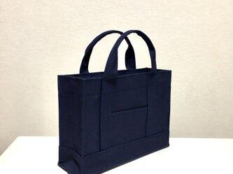 受注製作通勤通学トートバッグ 「 oblong 」 ネイビーの画像