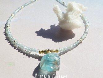 *14kgf*Raw Apataite Ocean Necklace*アパタイト原石のビーチネックレスの画像