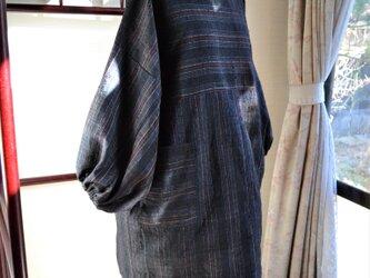 着物リメイク たっぷりサイズのチュニック J-44の画像