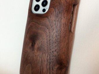 木製iPhoneケース(ウォルナット・フルカバー)(iPhone 12 Pro)の画像