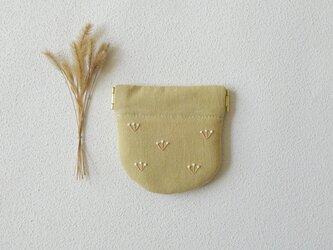 つぼみのバネポーチ(ミニ・イエローベージュ)の画像