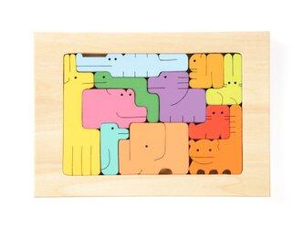 一番人気♪木製パズル アニマル11匹(小)の画像