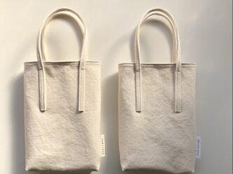 [nicooさま専用]miniバッグ/ナチュラル2個セットの画像