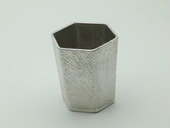 錫製 ぐい呑(六角)の画像