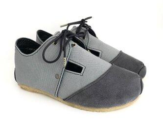 【bargain sale‼】Mサイズ(23~24㎝)ROUND lace-shoes #倉敷帆布の画像
